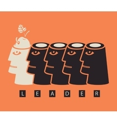 Business concept on the topic of leadership vector