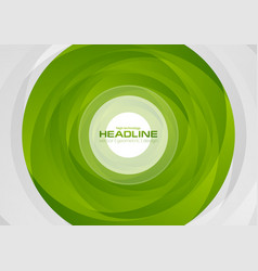 abstract green circle tech corporate background vector image