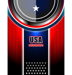 American modern backgrounds template vector
