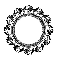 Beautiful deco floral circle vector