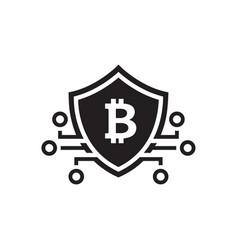 Bitcoin crypto currency icon vector