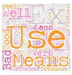 Commonly misused words and how to use them vector