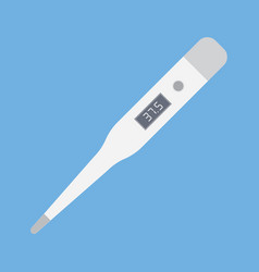 digital thermometer for medical examination vector image vector image