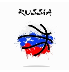 Flag of Russia as an abstract basketball ball vector image