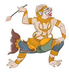 Hanuman matchanu vector