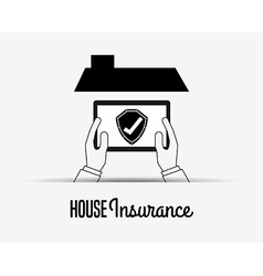 house insurance design vector image