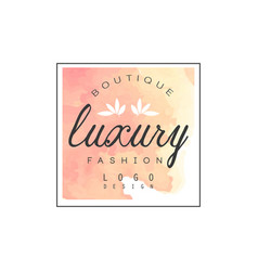 Luxury boutique fashion logo design badge for vector