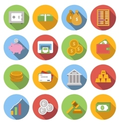 Money Flat icon set vector image vector image
