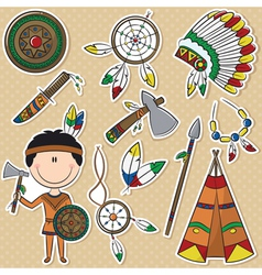 Native american man vector