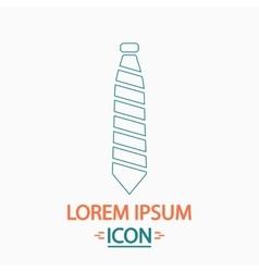 Necktie computer symbol vector