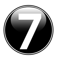Number seven button vector image vector image