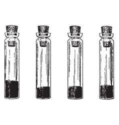 One-third full vial vintage vector