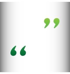 Quote sign green gradient icon vector