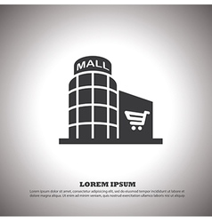 Shopping mall icon vector