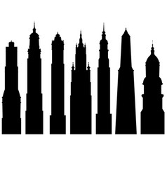 silhouettes of towers vector image