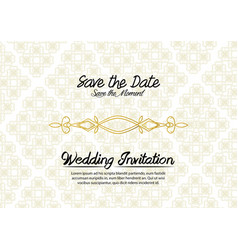Simple vintage wedding invitation vector