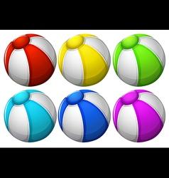 Six colourful balls vector