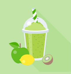smoothie with fruits vector image
