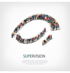 Supervision people sign 3d vector