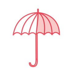 umbrella accessory isolated icon vector image vector image