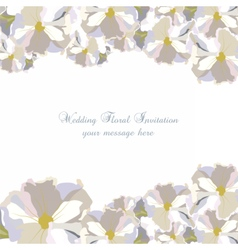 Vintage Delicate White geranium Flowers card vector image