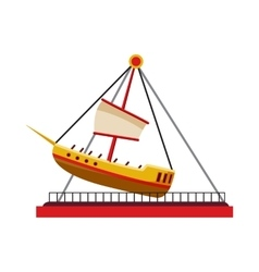 Boat swing icon cartoon style vector
