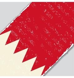 Bahrain grunge flag vector image
