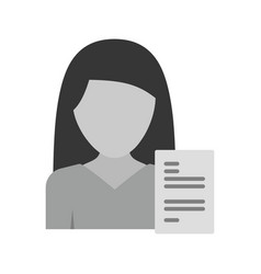 Woman resume vector