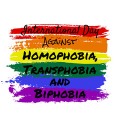 Homophobia transphobia and biphobia vector