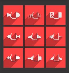 Foodstuffs flat icons set vector