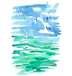 Abstract sea watercolor background vector