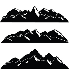 mountainscape vector image