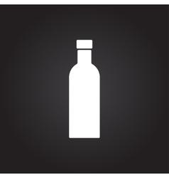 color flat olive oil bottle vector image