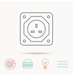 Uk socket icon electricity power adapter vector