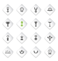 Medals and tropheys simply icons vector