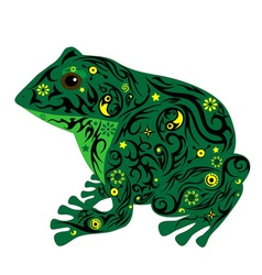 Toad green vector