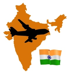 Fly me to the india vector