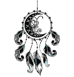 Dream catcher with feathers vector