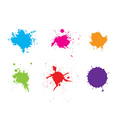 abstract splatter color pack background vector image