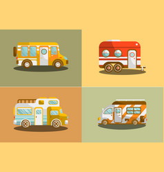 camping bus or camper van vector image