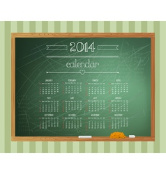 Chalkboard calendar vector