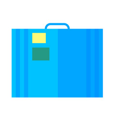 coloured travel suitcase icon for web and vector image vector image