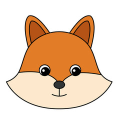 Cute and tender fox vector