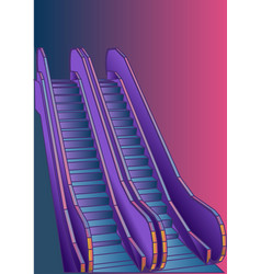 escalator vector image