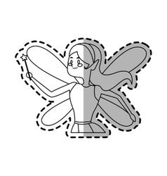 fairy cartoon icon vector image