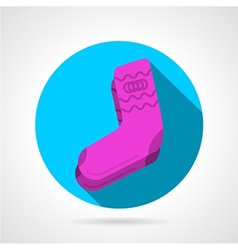 Flat icon for pink socks vector