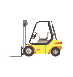 Forklift icon truck warehouse isolated lift cargo vector