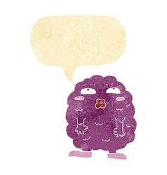 Funny cartoon monster with speech bubble vector