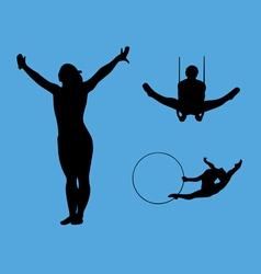 gymnastics collection vector image vector image