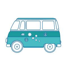 hippie van icon vector image vector image